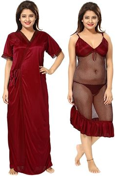 Be You Maroon Solid Women Nighty with Robe Girls Night Dress, Sexy Night Dress, Night Dress For Women, Beautiful Girl Photo, Beautiful Girl Indian, Glam Photoshoot, Indian Actress Hot Pics, Beauty Full Girl, Indian Beauty Saree