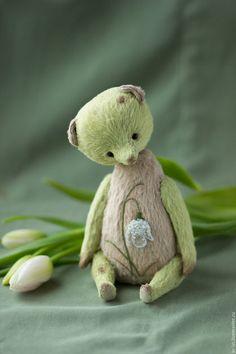 Teddy Bear / Мишки Тедди ручной работы. Ярмарка Мастеров - ручная работа. Купить Подснежник. Handmade. Салатовый, цветы, нежность, вышивка