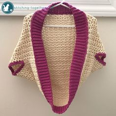 Adorable toddler cocoon shrug. Easy to make crochet blanket sweater perfect for the tiny toddler in your life.