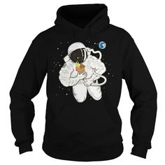 """Astronaut with ice cream cone Hoodies Show your """"space"""" on your body with amazing space T-shirts from our collection . Great gift ideas for teen boys, kids and men .Grab a space shirt and be out of this world. Cool space men Tee designs for everyday casual wear. #space #spaceship #astronaut #galaxy #spacegraphictee #graphictee #men #kid #spacecat #cat #nasa #cool #humor #funny #Boys #plussize #sunfrog #giftideas #Alien #planet #solar #gift #Lisaliza #Sunfrog"""