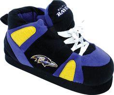 Comfy Feet Baltimore Ravens slippers! #superbowl