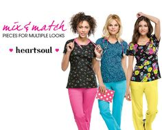 Mix and match pieces for that perfect look! | Alegria Cherokee Store #heartsoulscrubs