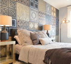 Pressed Metal Wall Tiles For an Accent Wall