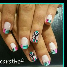 Aztec Nail Art, Tribal Nails, Pink Nail Art, Crazy Nails, Love Nails, How To Do Nails, Crazy Nail Designs, Toe Nail Designs, Pedicure Nails