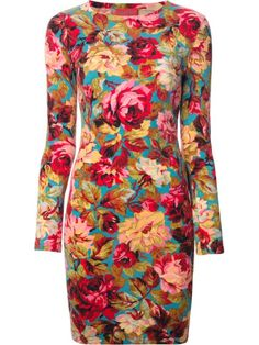 Shop Kenzo Vintage floral bodycon dress in  from the world's best independent boutiques at farfetch.com. Shop 400 boutiques at one address.