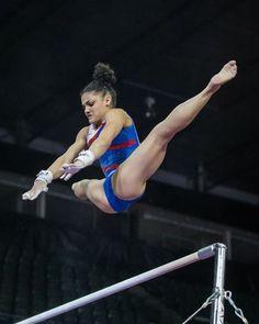 Laurie Hernandez (USA)Podium Training for the 2016 Pacific Rim Championships (x) this is honestly incredible Team Usa Gymnastics, Gymnastics Tricks, Gymnastics Quotes, Amazing Gymnastics, Gymnastics Pictures, Artistic Gymnastics, Olympic Gymnastics, Olympic Sports, Gymnastics Girls