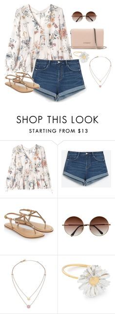 """""""Sweet summer"""" by hockey-obsessed ❤ liked on Polyvore featuring Rebecca Taylor, Zara, Accessorize, Michael Kors, Alex Monroe and Givenchy"""