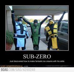 Just sub zero