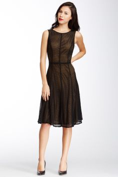 Isaac Mizrahi Sleeveless Metallic Knit Dress on HauteLook