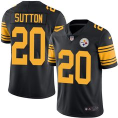 Youth Nike Pittsburgh Steelers #20 Cameron Sutton Limited Black Rush NFL Jersey