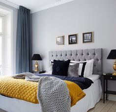 Beautiful Navy Blue Bedrooms to Inspire Your Master Suite | Mustard ...