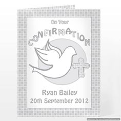 Personal Touch Gifts - Confirmation Card-Grey, £2.49 (http://personaltouchgifts.co.uk/confirmation-card-grey/)
