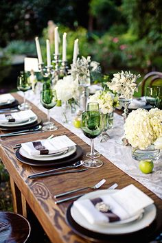 A Twilight Inspired Tablescape  Read more - http://www.stylemepretty.com/2010/02/12/a-twilight-inspired-tablescape/