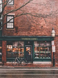 Starbucks on Charles Street in Beacon Hill, Boston, Massachusetts, New England