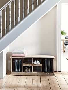 Home Large Shoe & Welly Box Unit - Welly, Boot & Shoe Storage & Furniture - Storage Furniture & Solu Boot Room Storage, Outdoor Shoe Storage, Shoe Storage Furniture, Hallway Shoe Storage, Shoe Storage Unit, Stair Storage, Front Door Shoe Storage, Diy Furniture, Porch Storage