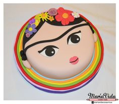 Frida Kahlo Cake Frida Kahlo Birthday, Food Artists, Creative Desserts, Mexican Party, Cake Images, Gorgeous Cakes, Cute Cakes, Fondant Cakes, Cupcake Cookies
