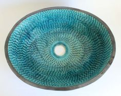 Rustic Big Bowl Plate Laurel Pattern Withe Mat And By Clayopera