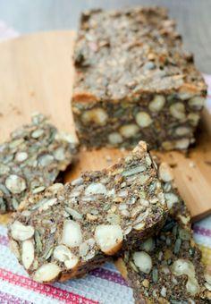 Low Carb Brot mit Nüssen und Saaten - Gaumenfreundin - Foodblog mit gesunden Rezepten