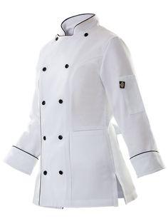 Chef Dress, American Uniform, Nurse Costume, Uniform Design, Maid Dress, African Fashion, Chef Jackets, Vogue, Menswear