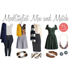 Mix and Match by modcloth on Polyvore featuring women's clothing, women's fashion, women, female, woman, misses, juniors, ootd, modcloth and modstylist