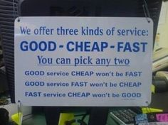 The three kinds of service