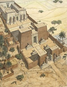 Ancient Egyptian Architecture, Architecture Antique, Sacred Architecture, Ancient Egyptian Art, Historical Architecture, Life In Ancient Egypt, Ancient Aliens, Ancient Greece, Ancient History