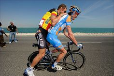 Tom Boonen & Johan Van Summeren - Tour of Qatar, stage 5 by Team Garmin-Sharp, via Flickr