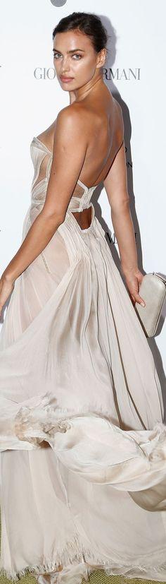 Irina Shayk in Versace – 2015 Leonardo DiCaprio Foundation Saint-Tropez Gala