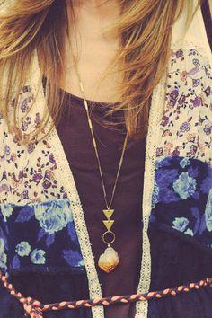 geometric pendant and layers