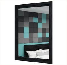 Espelho vertical / Linha Lavander-Preto/Café - Escovado