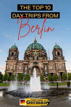 If you plan a romantic getaway or a family day-out, this list of the 10 best day trips from Berlin will guide you to create a perfect plan ahead of your trip. Family Days Out, Short Trip, Romantic Getaway, Germany Travel, Travel Essentials, Day Trips, Good Day, Berlin, Tourism
