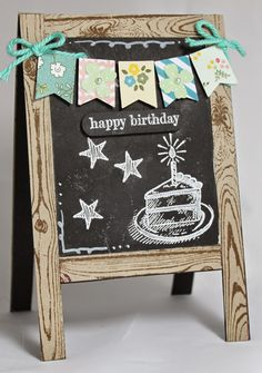 Weekly Deals and Chalkboard Easel Card from Stampin' Up! UK Demonstrator Sarah Poulton