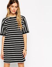 ASOS Stripe Tee Shirt Dress