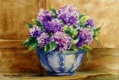 Flowers for Priti. Watercolor 5x7 enjoy!