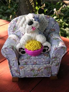 *SORRY, no information given as to product used ~ sheepie chair by claykeepsakes, via Flickr