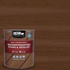 Protect an outdoor wood surface from UV damage and mildew growth by using BEHR Premium Semi-Transparent Waterproofing Stain and Sealer. This exterior wood stain, ideal for use on decking, fencing and Concrete Resurfacing, Concrete Coatings, Concrete Pavers, Concrete Floor, Floor Coatings, Cement, Wood Deck Stain, Exterior Wood Stain, Best Deck Stain