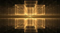 Golden Cubes Rotating in Perspective - Dynamic yellow translucent cubes rotating in space on black background stretching off to infinity , fantasy geometrical horizon, abstract illustration, animation, 30fps, HD1080, seamless loop Motion Background - VideoBlocks
