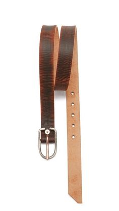 Cause and Effect Textured Leather Belt