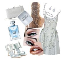 """""""Summer party"""" by callmerose ❤ liked on Polyvore featuring Marchesa, Manolo Blahnik, La Regale, Fraiche and PTM Images"""
