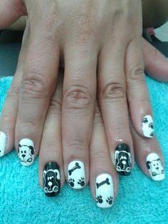Perritos Nails, Beauty, Doggies, Finger Nails, Ongles, Beauty Illustration, Nail, Nail Manicure
