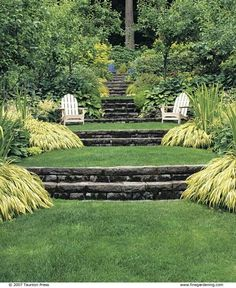 Large backyard landscaping ideas are quite many. However, for you to achieve the best landscaping for a large backyard you need to have a good design. Terraced Backyard, Terraced Landscaping, Small Backyard Landscaping, Backyard Garden Design, Terrace Garden, Landscaping Ideas, Sloped Backyard Landscaping, Hill Garden, Hillside Garden