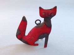 Seen on SilverInTheCity.com: Fox Reclaimed Metal Ornament