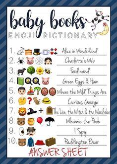 Emoji Quiz, Emoji Games, Baby Shower Games, Baby Boy Shower, Delaware, Pictionary, Classic Baby Books, Baby Boys, Unisex Baby Names