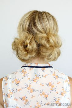 double-low-buns-hair-tutorial