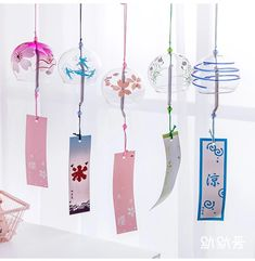 Momoi Printed Wind Chime | YesStyle Maneki Neko, Feng Shui, Japanese Wind Chimes, Shell Wind Chimes, Style Japonais, Japanese Style, Art And Architecture, Home And Garden, Home