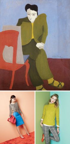 """Color Inspiration: Milton Avery  via J. Crew   """"for our holiday catalog, we looked to the paintings of American artist Milton Avery for color inspiration. below are some examples of his influential works and our final shots"""""""