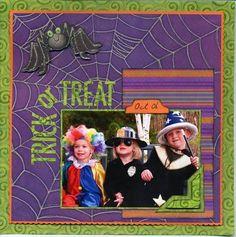 Scrapbook Layout - Halloween