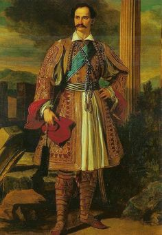 King Otto of Greece adopted the native Greek garment the Foustanella . Society Of Jesus, Greek Royalty, Greek Royal Family, Greek Warrior, Masonic Lodge, Greek History, The Rite, Church Of England, Costumes