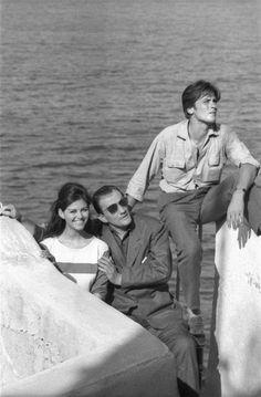 "cinemarhplus:  ""Claudia Cardinale, Luchino Visconti and Alain Delon  """