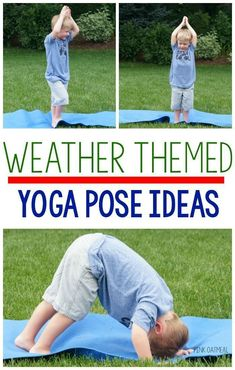 I love these weather themed yoga/gross motor movement poses for kinesthetic learning! They are great for a brain break! I can& wait to try them for morning meeting too! Weather Activities Preschool, Preschool Science, Preschool Lessons, Preschool Activities, Motor Activities, Preschool Weather Chart, Weather Kindergarten, Nanny Activities, Seasons Activities